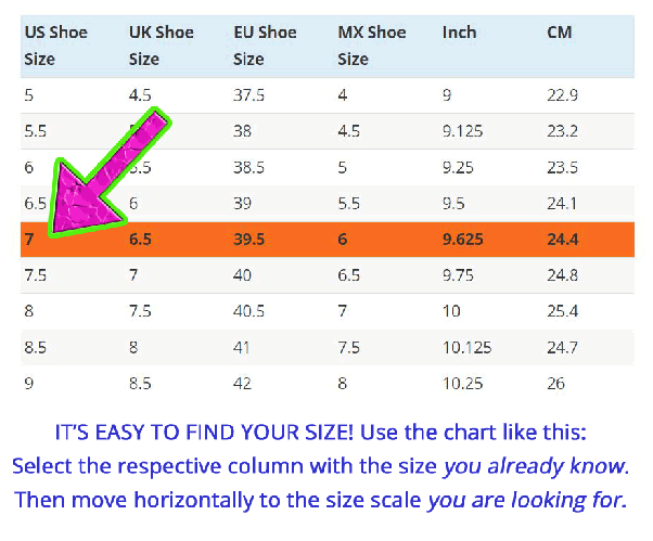 How Many Inches Long Is A Size  Mens Shoe