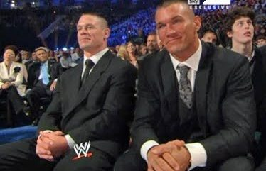 Cena And Orton From Perhaps A Hall Of Fame Induction Ceremony