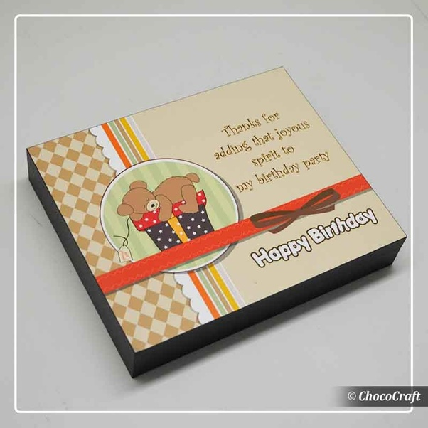Find Exclusive Range Of Printed Chocolates As Birthday Return Gifts At Chococraftin