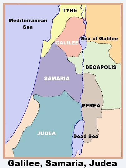 how long would it take to walk from judea to galilee quora