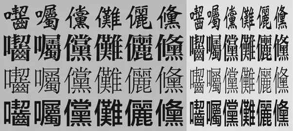 The Four Rows Are Different Font Styles Of Same Unicode Characters Each Left Six Shown In Their Normal Shape Followed By