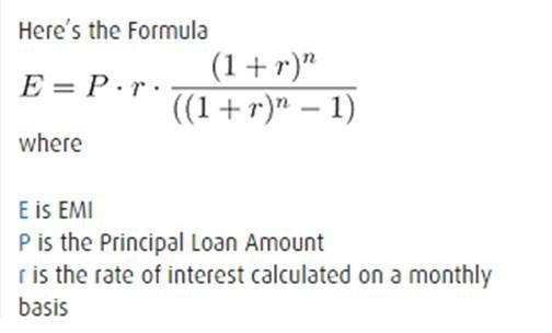 what is the calculation of a home loan or emis quora