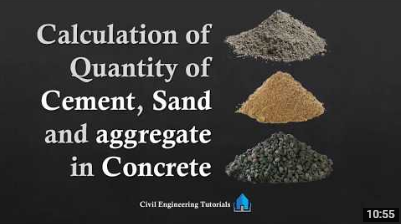 How to estimate the quantity of cement sand aggregate in 1