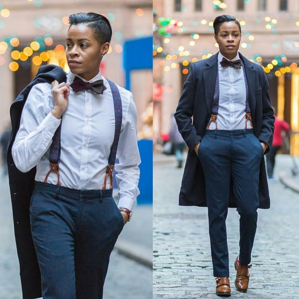 If a woman dressed like a man, what would people call her