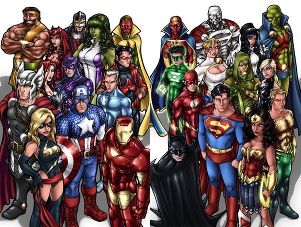 the avengers can put up their best fight but theyll never outmatch the sheer will of the justice league - Avengers Vs Justice League