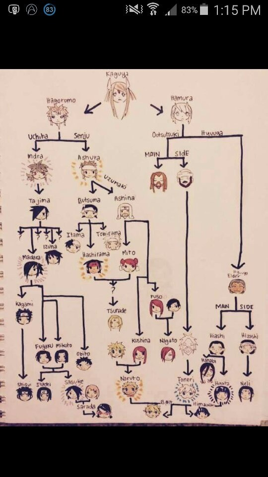What does the Naruto family tree look like? - Quora