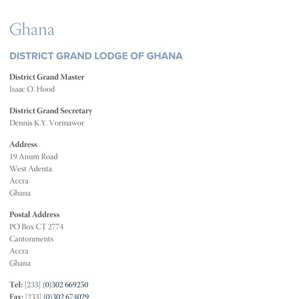 How to become a Freemason in Ghana - Quora