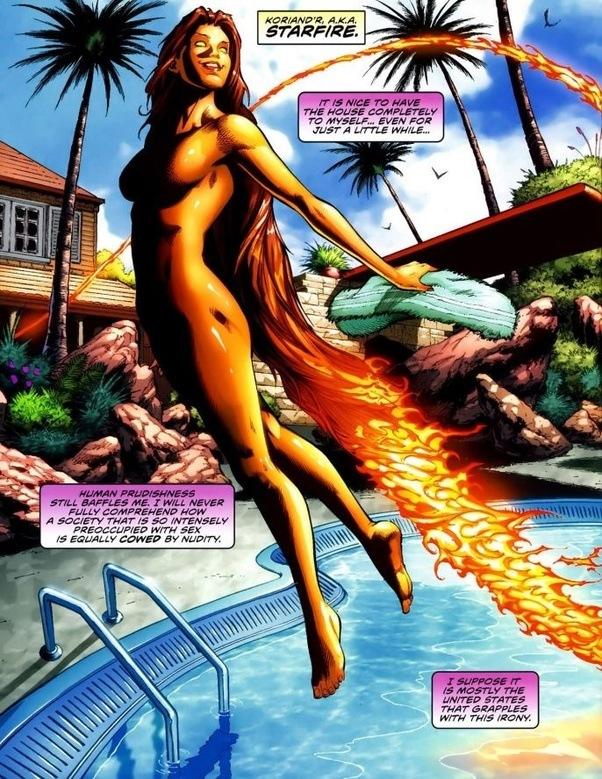 Starfires boobs naked naked