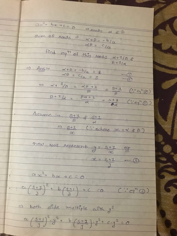 If Alpha And Beta Are Roots Of The Quadratic Equation Ax^2