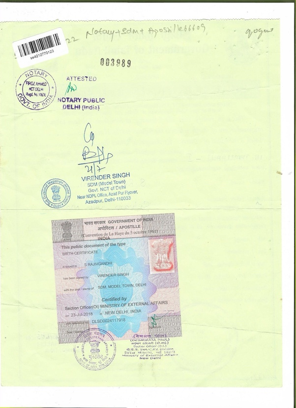 What Is The Process Of Getting Apostille In India Quora