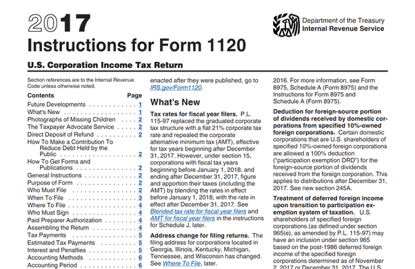 How Should One Fill Out Form 1120 For A Company With No Activity And