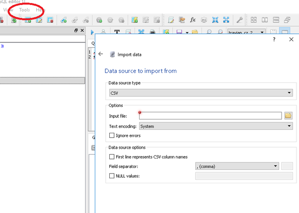What's the best free SQLite manager that supports csv