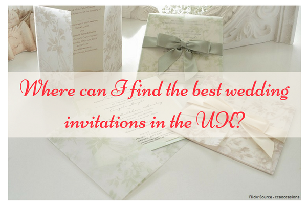 Where Can I Find The Best Wedding Invitations In The Uk Quora