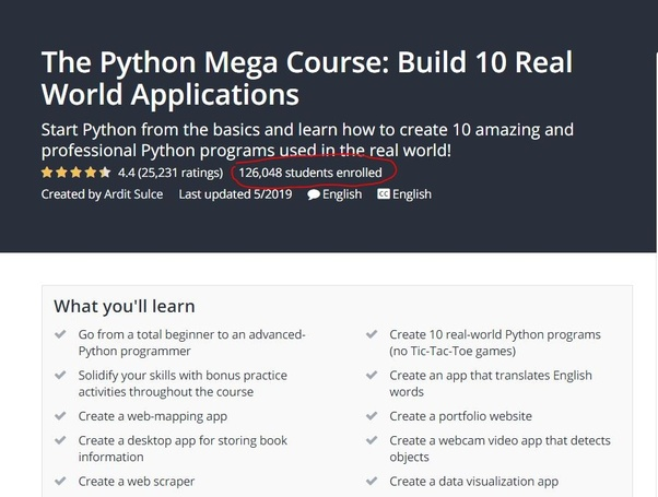 Is the Python Mega course from Udemy really worth the money