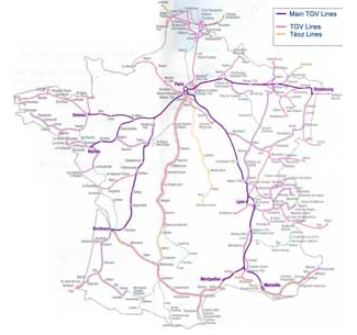 What are the technical differences between French TGV Japanese