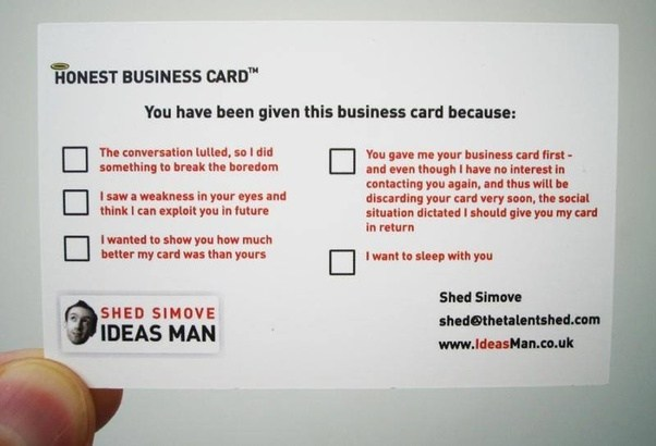 Now Even Though These Business Cards Get A Reaction From Anyone I Give Them To In Terms Of Getting My Information Into That Person S Phone Or Computer