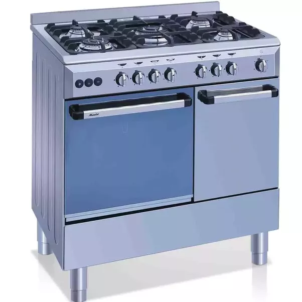 A Cooking Range Has Stoves At The Top, With Grill Below It And An Oven  Below It. A Cooking Range Is Shown Below.