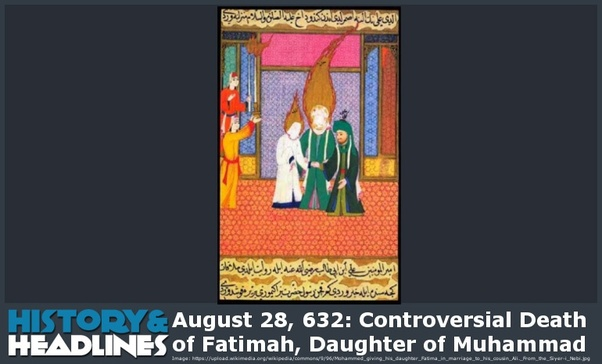 Who killed Fatima, the daughter of the Prophet Muhammad? - Quora