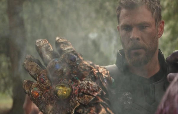 What happened to the Infinity Gauntlet after Thanos snapped