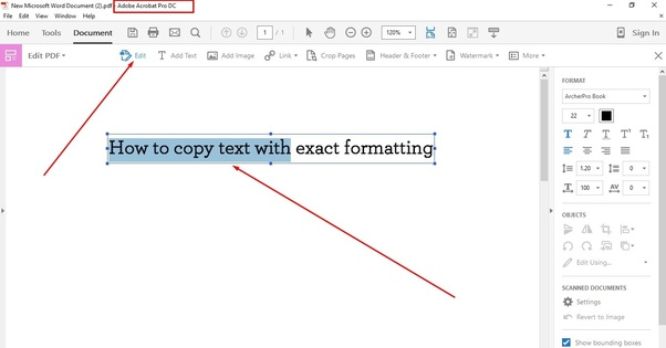 How to copy text with formatting from a PDF - Quora