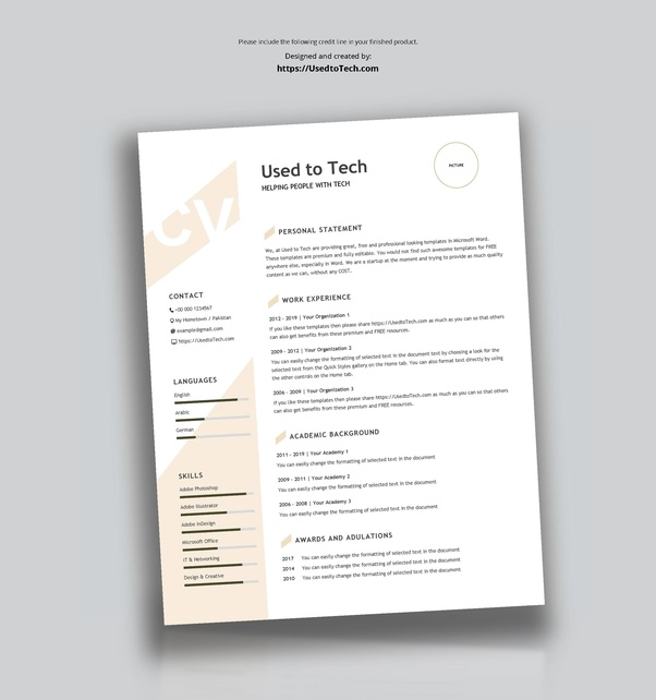 How To Find A Good CV Template