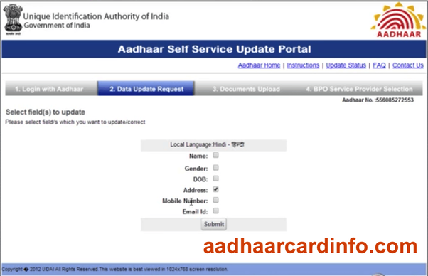 Aadhar card address change in bangalore dating 7