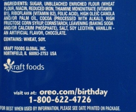Are there any natural ingredients in Oreo Cookies? If so ...
