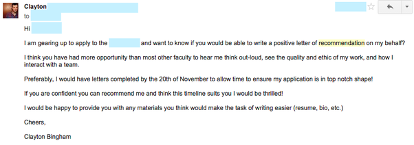 How to write a good e mail to contact an important professor quora here is an email that i sent to ask for a recommendation from a professor that i have done quite a bit of work with altavistaventures Gallery