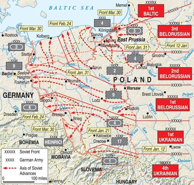 During World War 2, the Soviets voluntarily halted the Vistula–Oder
