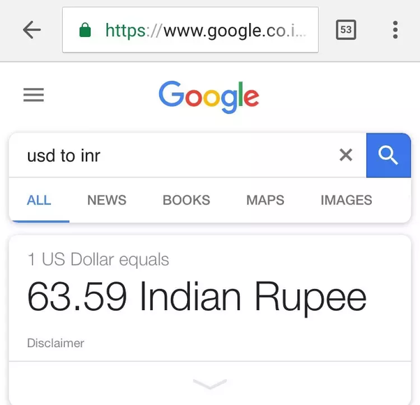 What Is The Value Of 1 In Rs Quora