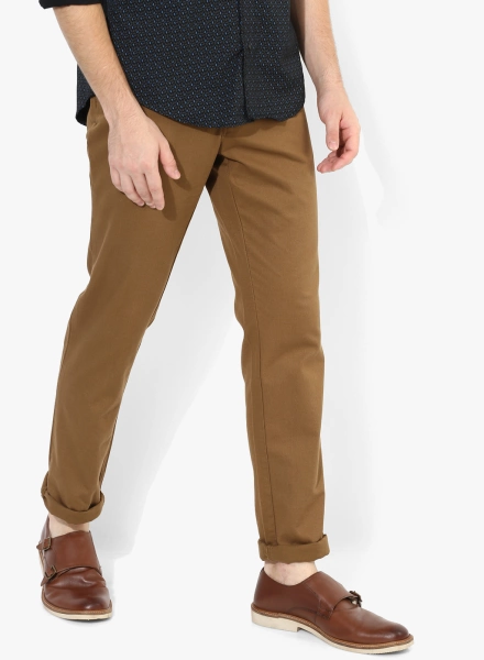 09932177ba These chinos can be styled with a grey shirt and a pair of brown shoes to  look your best.
