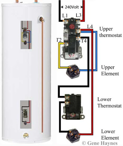 [SCHEMATICS_48EU]  A new water heater has a black wire and red wire. The house has a Black wire  and white wire with another copper wire coming out. How should these be  wired properly? - | Water Heater Breaker Wiring Diagram |  | Quora
