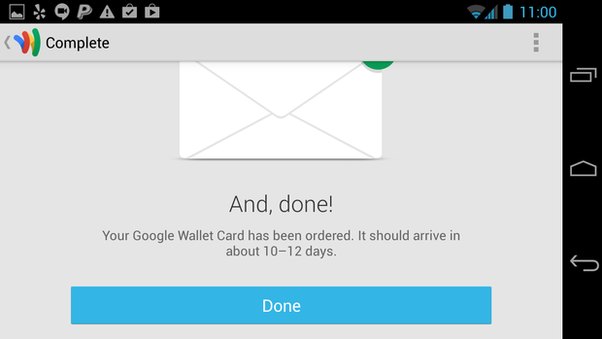 Can I create a Google Wallet without a credit card/ debit