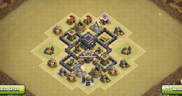 Base Coc Th 4 War 7