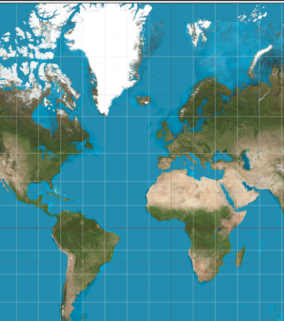 Google Maps uses Mercator projection when zoomed out, a ... on