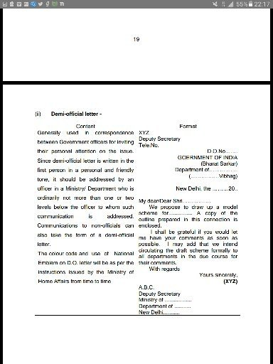 What is standard letter and application format for ssc tier 3 exam below the various formats use in government offices for correspondence these are published by dopt and government certified spiritdancerdesigns Choice Image