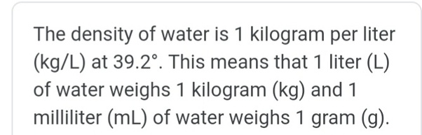 How many liters are in 1 kg? - Quora