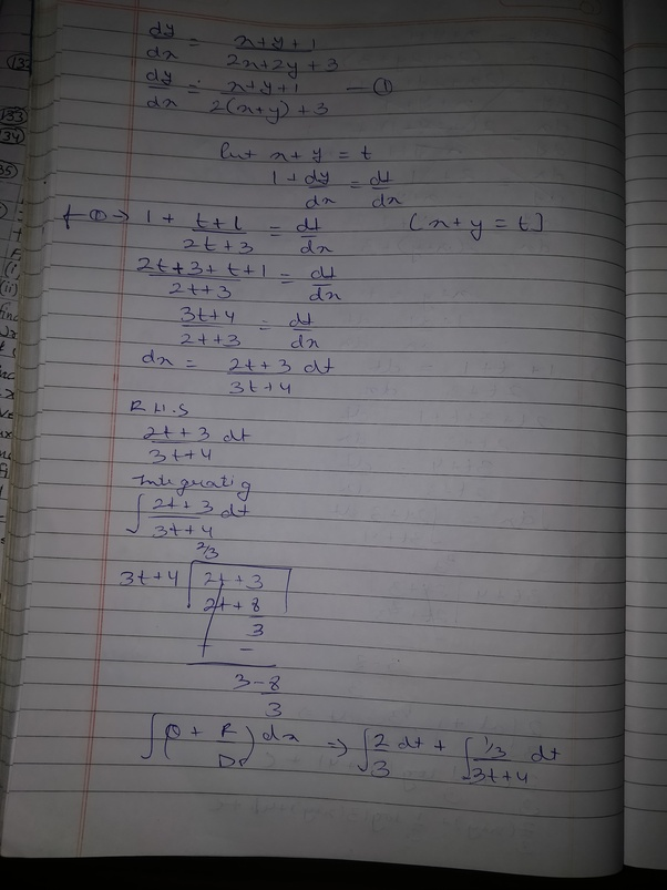 How To Solve The Differential Equation Dydx Xy1 2x2y3