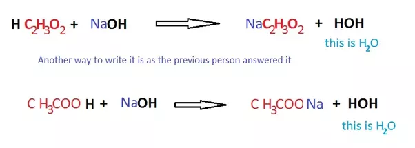 What Is The Chemical Reaction When Acetic Acid Is Combined With