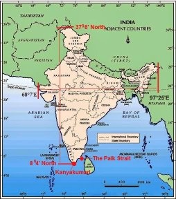 Is India above the equator or below the equator? - Quora