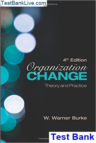 Where can I read a test bank for Organization Change: Theory