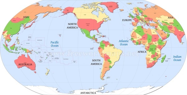 Why isnt our world map made to look like this quora america centric world map centered on europe gumiabroncs Gallery