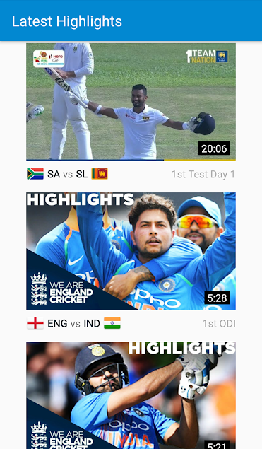 Is There Any Way To See The Highlights Of The Latest Cricket