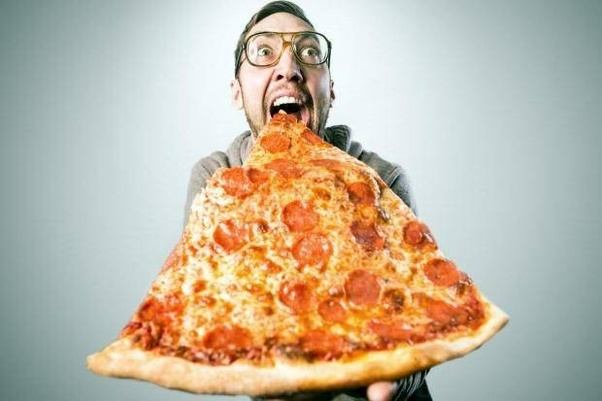 Image result for images of eating pizza