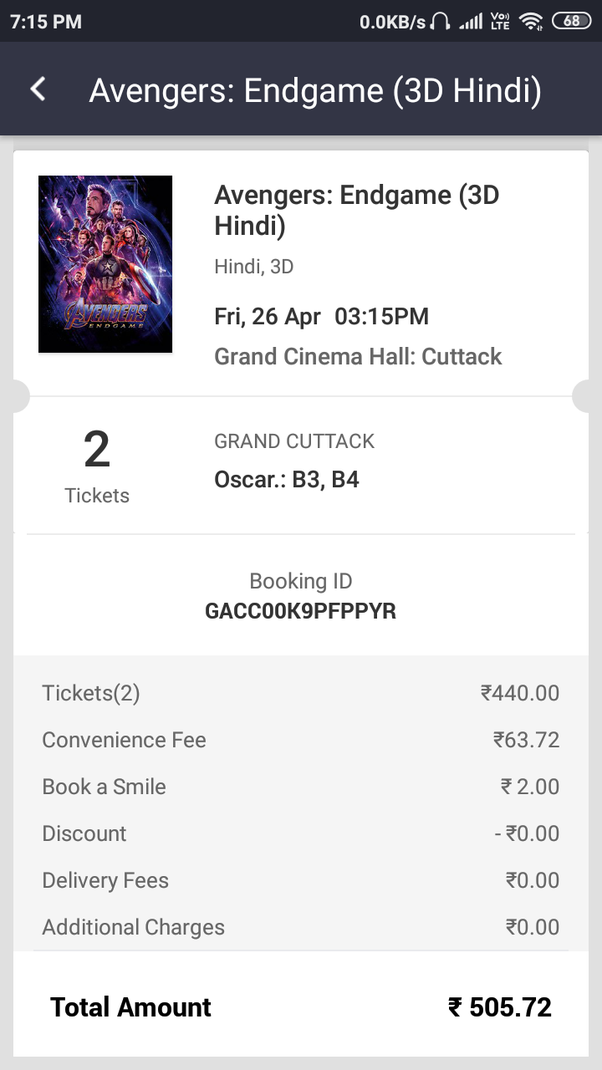 Does RBI allow to take internet handling charges on movies ticket