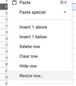 In Google Sheets, how can I force a row to be a certain height? - Quora