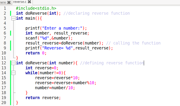 Write a program in c to reverse 3 digit number how to write in color in vabguard