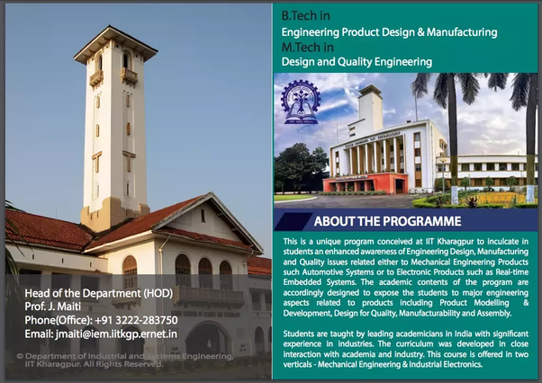 How Is Quality Engineering Design And Manufacturing Qedm At Iit Kharagpur Quora