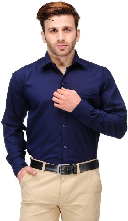 52525229a0b Dark blue shirt is very common and looks good with majorly all colours. Be  it black