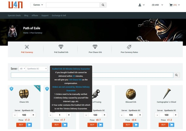 Where is the best place to buy PoE currency? - Quora